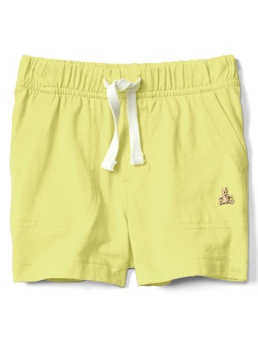 Gap Baby Pull-On Shorts Fresh Yellow Size 6-12 M