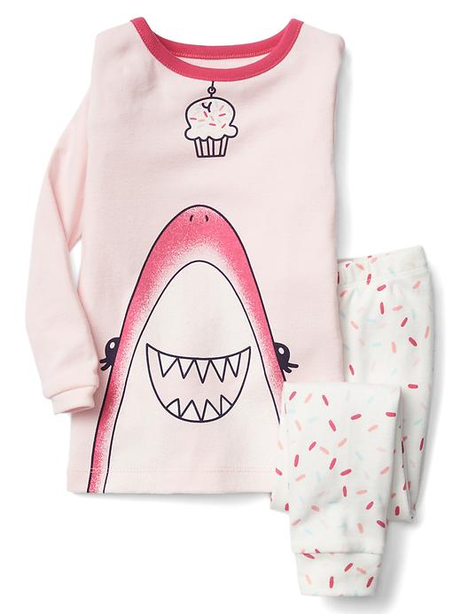 Gap Cupcake Shark Sleep Set Size 12-18 M - Pink