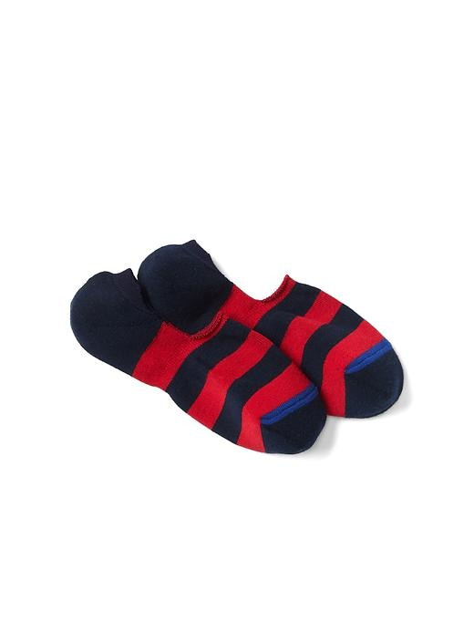 Gap Men Rugby Stripe No Show Socks Size 10-13 - Pure red