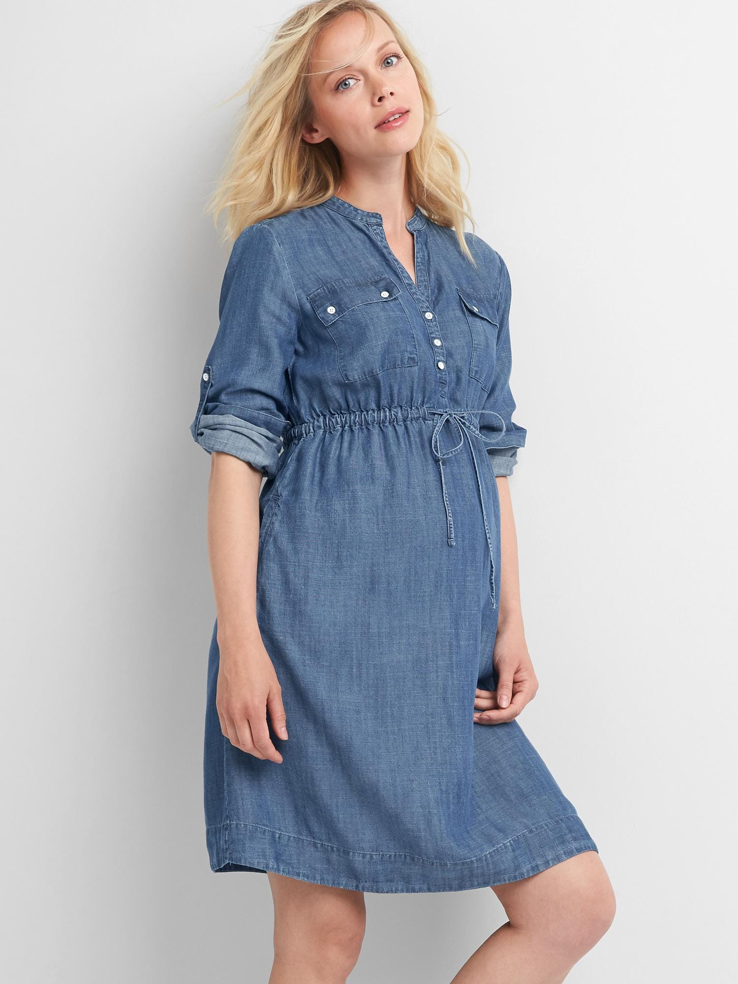 Maternity Utility Dress in TENCEL™ | Gap