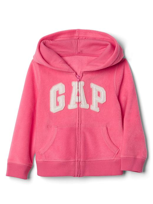 Gap Pro Fleece Logo Zip Hoodie Size 12-18 M - Light pink