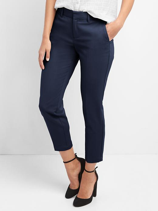 Slim Crop Womens Pants