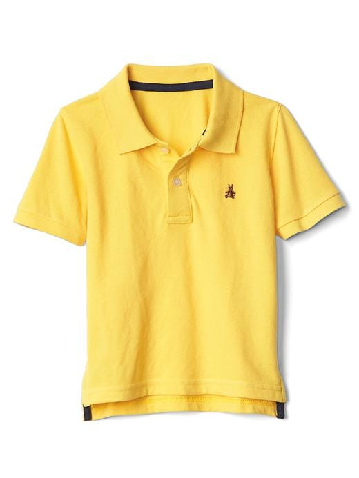 Gap Short Sleeve Pique Polo Size 2 YRS - Yellow jacket