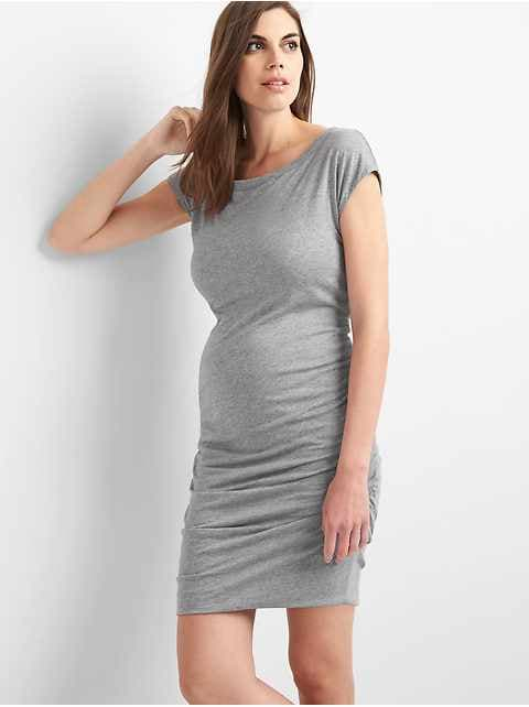 Maternity short sleeve t-shirt dress