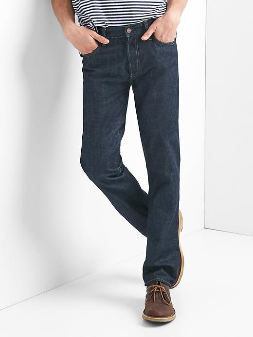 Gap Men Straight Fit Jeans Size 28W 30L - Classic dark blue