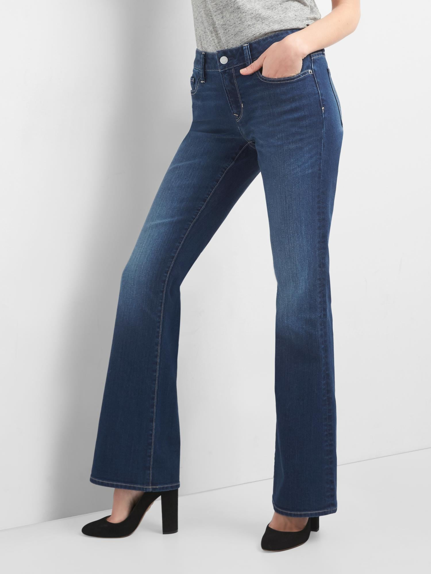 Gap Mid Rise Long & Lean Jeans
