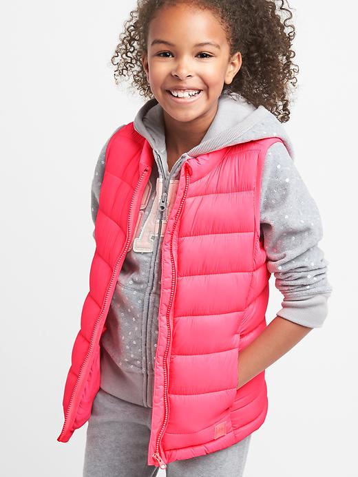 Gap Girls Coldcontrol Lite Puffer Vest Light Pink Size XS