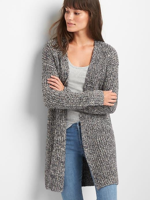 0123b913ad Gap Women Textured Open Front Cardigan Size XL Tall - Charcoal heather