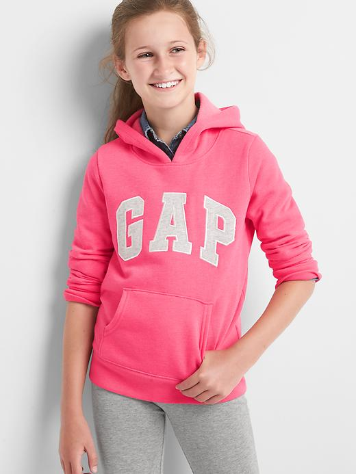 Gap Girls Logo Fleece Hoodie Size L - Pink jubilee nylon on