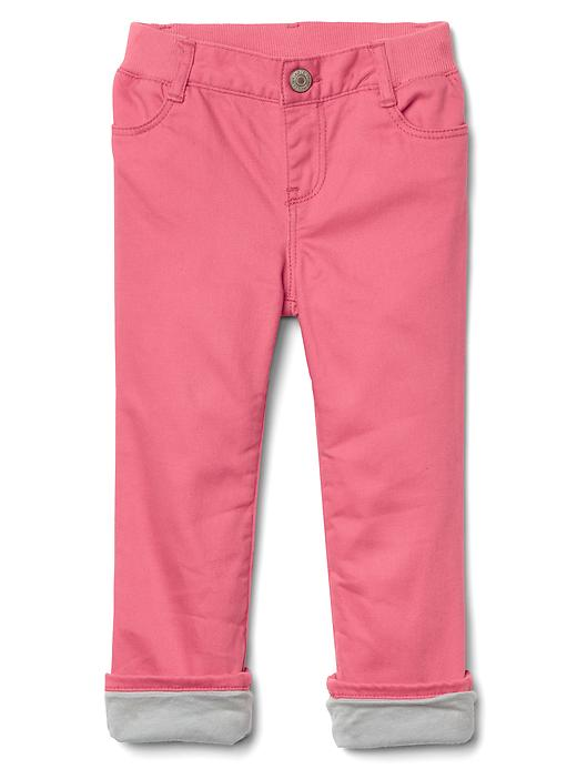 Gap Stretch Jersey Lined Straight Jeans Size 12-18 M - Primrose pink