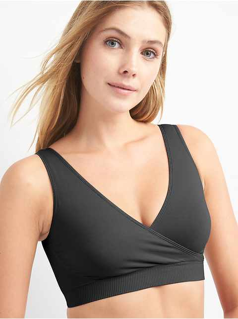Ingrid and Isabel&#174 Seamless Crossover Maternity & Nursing Bra