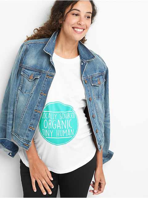 Maternity graphic short sleeve tunic tee