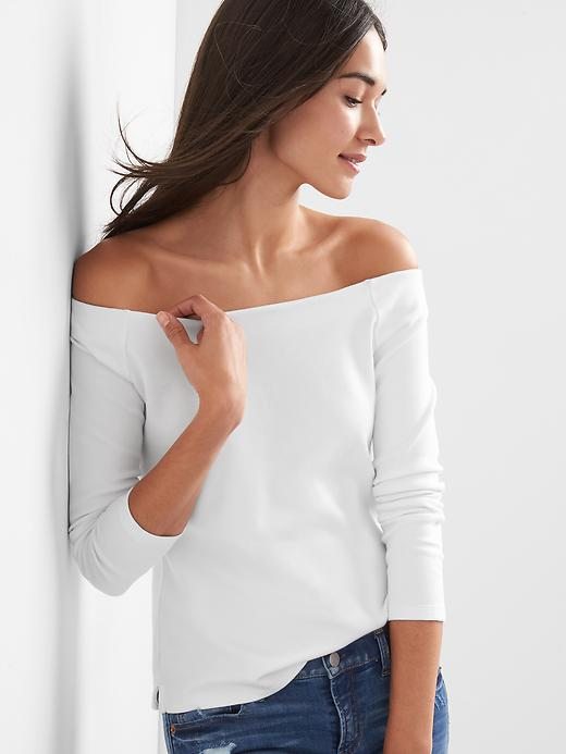 Gap Womens Ponte Off-Shoulder Top
