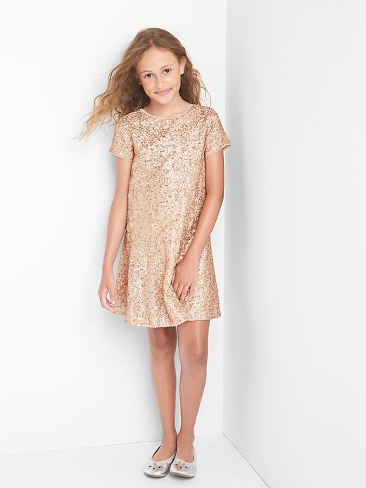 Gap Girls Rose Sequin Dress Size M - Murmur pink