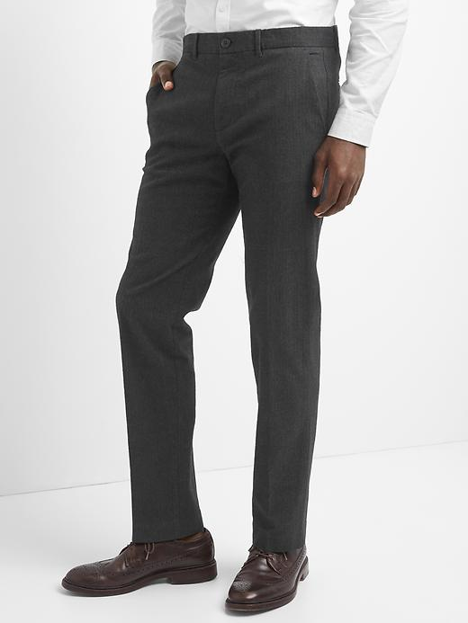 Straight Fit Twill Pants (Stretch)