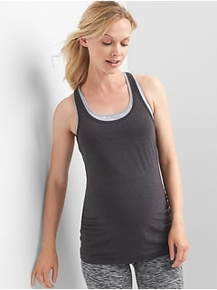 Maternity GapFit Breathe Racerback Tank Top