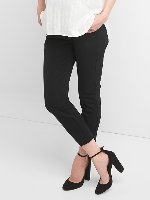 Maternity Full Panel Skinny Pants with Bi-Stretch