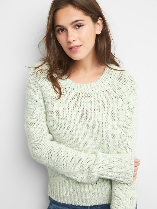 Chunky Raglan Crewneck Sweater by Gap