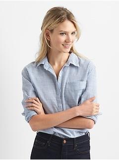 69c69f43411 Boyfriend Pinstripe Popover Shirt