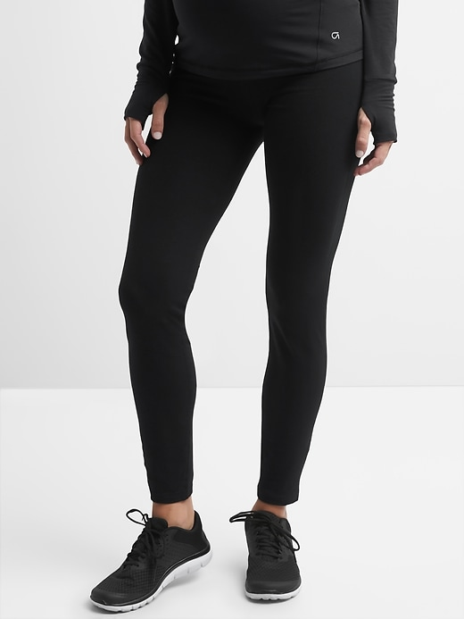 Maternity GapFit Full Panel Full Length Leggings in Performance Cotton