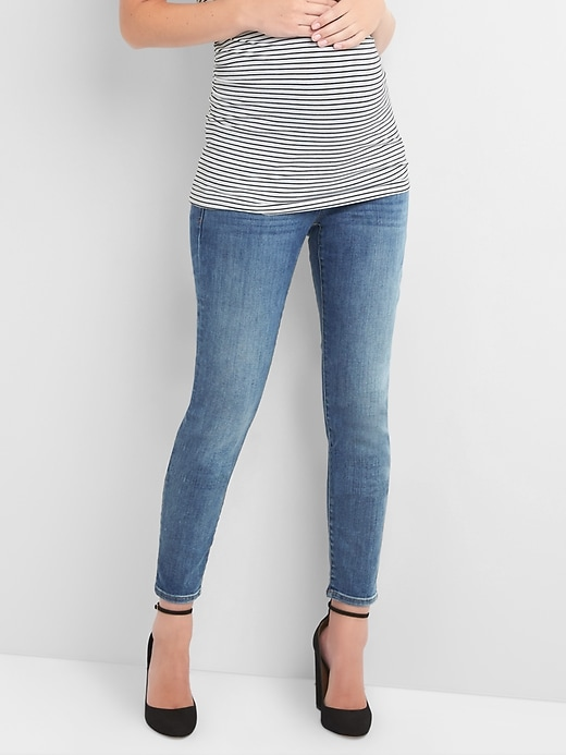 Maternity Full Panel True Skinny Jeans