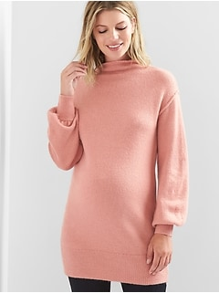Maternity mockneck sweater tunic