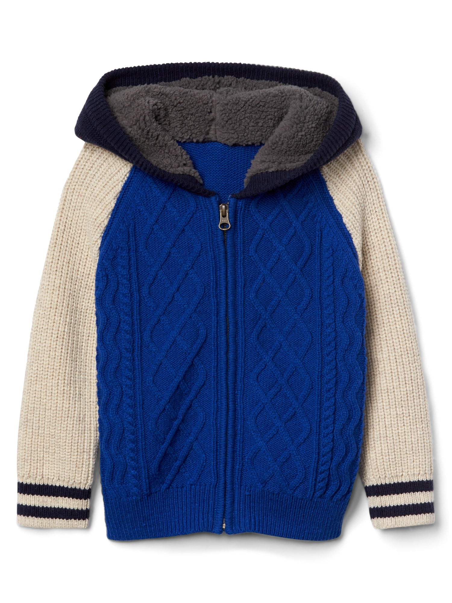 Cozy cable-knit sweater hoodie | Gap