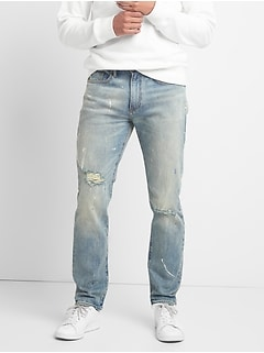 Cone Denim&#174 Destructed Jeans in Slim Fit with GapFlex