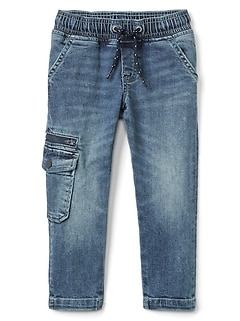 Superdenim Pull-On Slim Jeans with Defendo