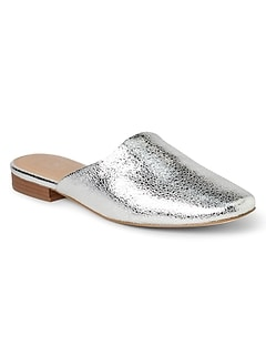 Flat Mules in Metallic