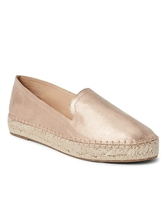 Metallic Loafer Espadrilles