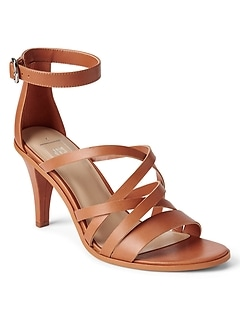 Strappy City Sandals in Leather