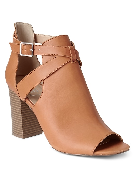 Open Toe Buckle Booties by Gap