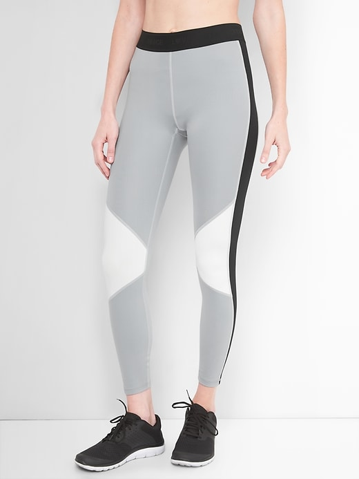 G Fast Mid Rise Blackout Colorblock Leggings by Gap