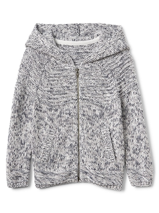 Zip Textured Sweatshirt by Gap