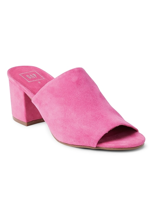 Open Toe Block Heel Mules by Gap
