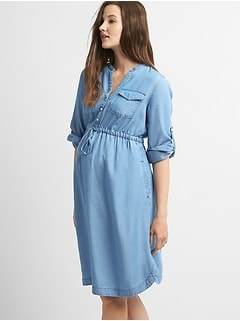 Maternity TENCEL&#143 Shirtdress