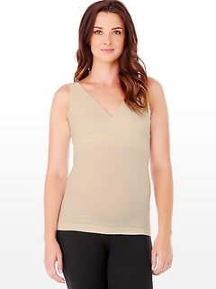 Ingrid and Isabel&#174 Seamless Crossover Nursing Tank