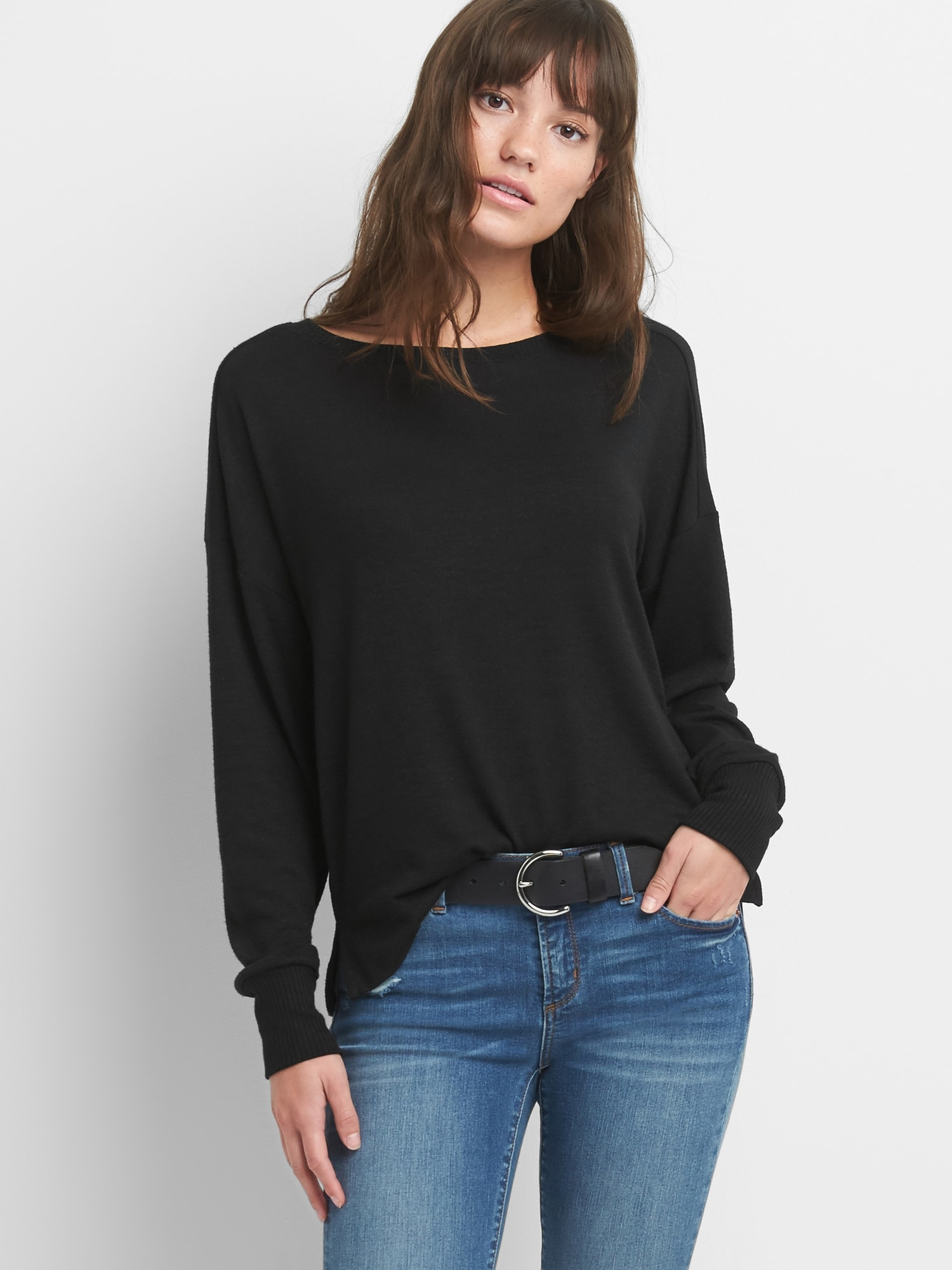 Softspun Long Sleeve Boatneck Top