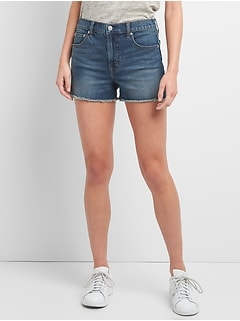 "Washwell High Rise 3"" Denim Shorts"