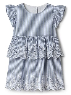 Stripe Flutter Dress