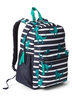 Stripe Dino Junior Backpack