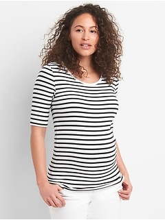 Maternity Modern Short Sleeve Scoopneck T-Shirt