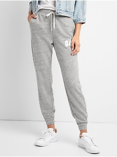 Metallic Logo Joggers in French Terry