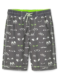 Spooky eyes board shorts