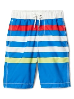 "8"" Stripe Swim Trunks"