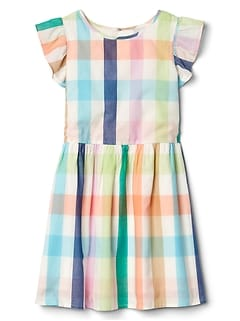 Plaid Flutter Dress
