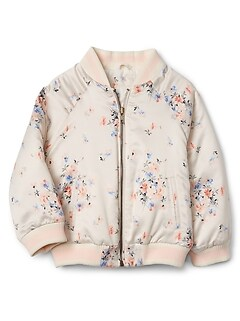 Toddler Floral Bomber Jacket