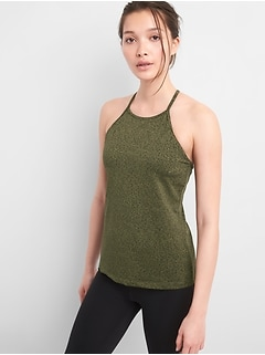 GapFit High Neck Shelf Bra Tank Top