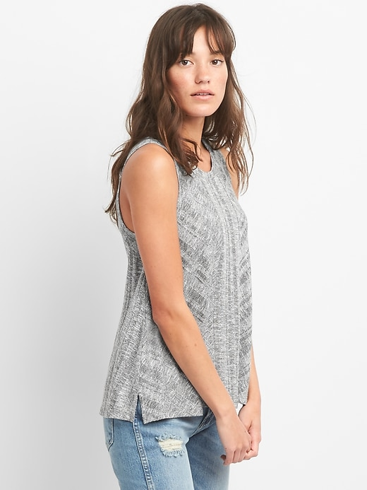 Softspun Mix Rib Tank Top by Gap